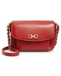 Ferragamo 'Sandrine' Leather Shoulder Bag - Lyst