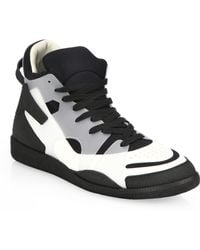 Maison Margiela Colorblock High-Top Sneakers - Lyst