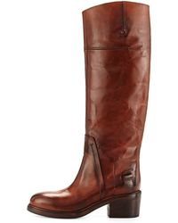 CoSTUME NATIONAL - Leather Knee-High Boots - Lyst