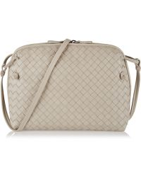 Bottega Veneta Messenger Intrecciato Leather Shoulder Bag - Lyst