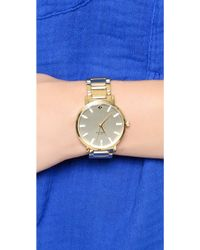 Kate Spade Gramercy Grand Watch With Crystal Markers - Gold - Lyst