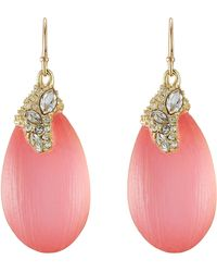 Alexis Bittar Gold Plated Earrings With Lucite And Crystals - Lyst