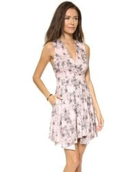 Robert Rodriguez Floral Summer Dress Pink Floral - Lyst