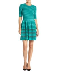 M Missoni Elbow-Sleeved Ribbed Dress - Lyst