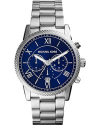 Michael Kors Stainless Steel Roman Numeral Watch - Lyst