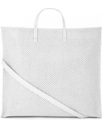 Clare V. Perforated Leather Tote - Lyst