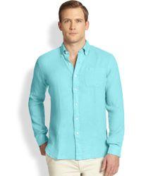 Polo Ralph Lauren Linen Mercer Pocket Sportshirt - Lyst