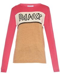 Bella Freud Dance-Intarsia Color-Blocked Sweater - Lyst