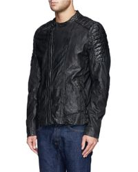 Shop Men's Scotch & Soda Leather Jackets from $185 | Lyst : scotch and soda quilted leather jacket - Adamdwight.com