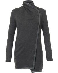 Helmut Lang Sonar Draped-front Wool-jersey Jacket - Lyst