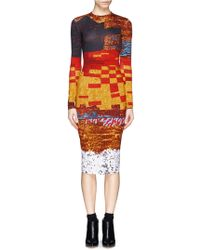 Givenchy Mosaic Pixel Sequin Print Dress - Lyst