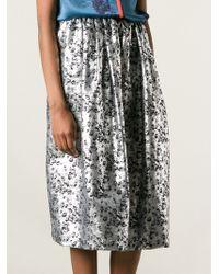 Preen Foliage Print Midi Skirt - Lyst