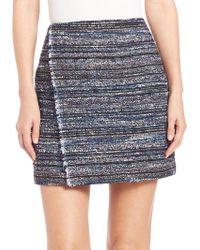 Diane von Furstenberg | Austyn Textured Wrap Mini Skirt | Lyst