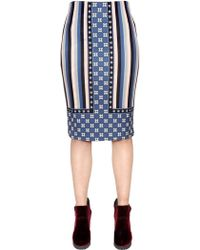 Emma Cook - Printed Techno Jersey Pencil Skirt - Lyst