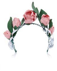 Francesco Ballestrazzi - Pink Cotton Magnolia Crown - Lyst