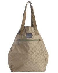 Gucci Pale Mili Gg Nylon Viaggio Collection Fold Away Tote - Lyst