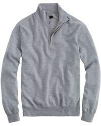 J.Crew Merino Wool Half-Zip Sweater - Lyst