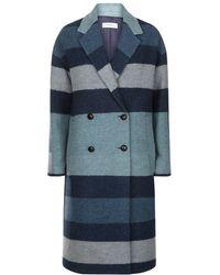 Paul by Paul Smith - Striped Wool Coat - Lyst