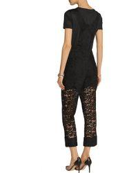 Nina Ricci - Cotton-blend Lace Overalls - Lyst