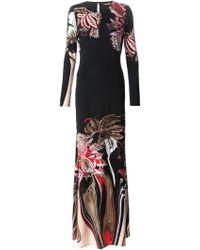 Roberto Cavalli Floral Print Maxi Dress - Lyst