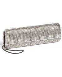 Whiting & Davis Crystal Trim Clutch - Metallic silver - Lyst