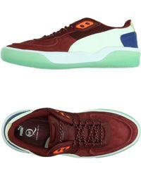 Alexander McQueen x Puma | Brace Leather and Neoprene Low-Top Sneakers | Lyst