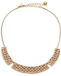 Kate Spade Little Ladybug Crystal Caining Collar Necklace - Lyst