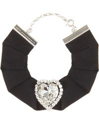 Crystal Choker Necklace in Crystal Brass Christopher Kane Yg3YxmGP