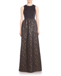 Shoshanna | Harlow Floral Jacquard Gown | Lyst