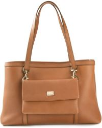 Dolce & Gabbana Front Flat Pocket Tote - Lyst