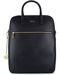 DKNY Tumbled Leather Backpack - Lyst