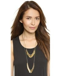 Kate Spade - Fancy Flock Double Row Necklace - Gold - Lyst