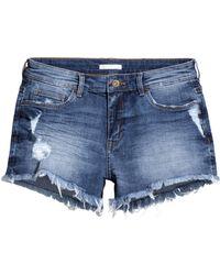 H&M Short Denim Shorts blue - Lyst