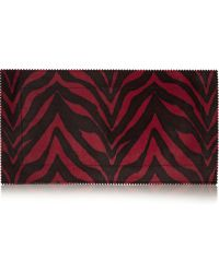 Tamara Mellon - Fever Zebraprint Calf Hair Clutch - Lyst