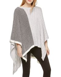 Two By Vince Camuto - Mixed Media Poncho - Lyst