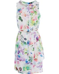 Oasis Photo Real Paloma Dress multicolor - Lyst
