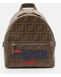 Fendi - Mania Logo-appliqué Coated Canvas Backpack - Lyst