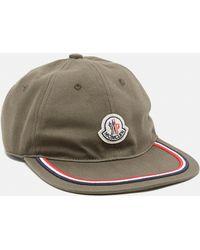 c1715117cb3 Moncler Classic Baseball Cap in Natural for Men - Lyst