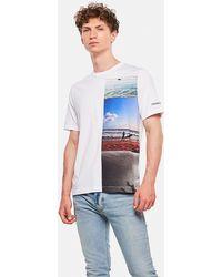 e7168ca7620b Calvin Klein Pride Satin Rainbow T-shirt in White for Men - Lyst