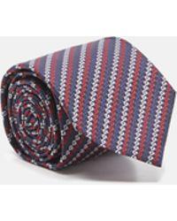 9e41576f508 Lyst - Gucci Gg Pattern Silk Jacquard Tie in Blue for Men