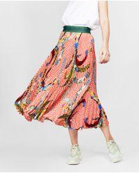 Stella Jean - Pleated Printed Skirt - Lyst
