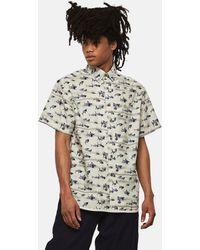 Lanvin - Camicia Con Stampa Sharks - Lyst
