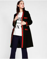 7e5de51fb Gucci Wool Coat in White - Lyst