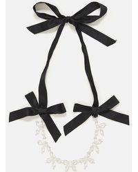 Simone Rocha - Transparent Flower Ribbon Necklace - Lyst