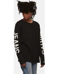 Calvin Klein - T-Shirt In Cotone Biologico A Maniche Lunghe - Lyst