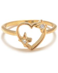 Bing Bang - Sparkle Heart Ring With Diamond Accents - Lyst