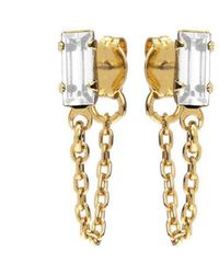 Bing Bang - Baguette Continuous Earrings - Lyst