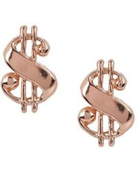 Bing Bang | Baller Money Sign Studs | Lyst