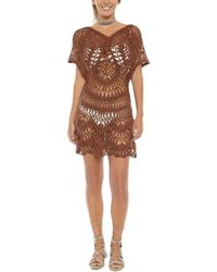 Bikini.com - Crochet Cover Up Dress - Espresso - Lyst