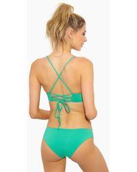 L*Space - Estella Side Cut Out Bikini Bottom - Spearmint - Lyst